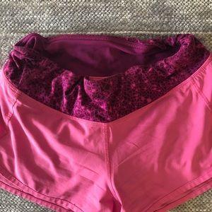 Pink Lululemon Shorts Size 4